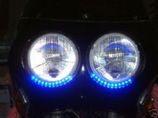 LED strip light blue highlight accent streetfighter trike